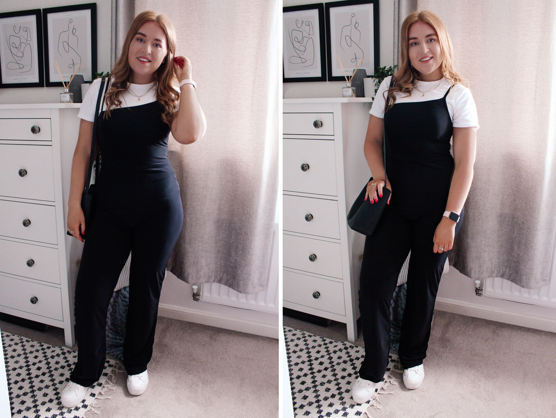 three jumpsuits for different wearing occasions