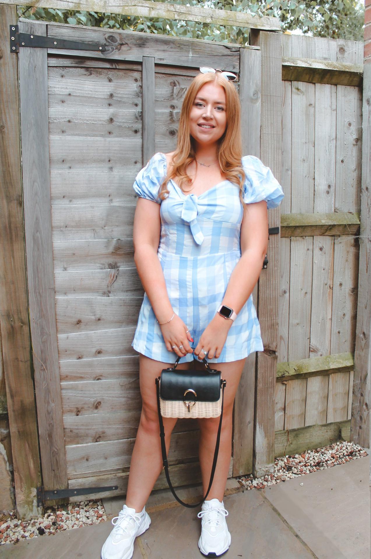 summer blue, playsuit, fashion,